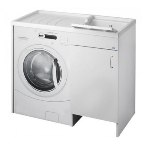 Mobile coprilavatrice sinistro + lavatoio a destra linea Futura 106x60x90h cm di Cr