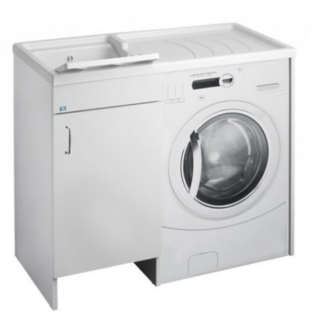 Mobile coprilavatrice destro + lavatoio sinistro linea Futura 106x60x90h cm di Cr