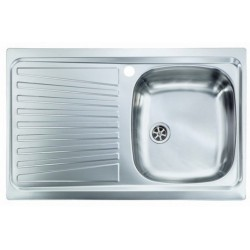 Lavello Cucina a vasca singola 86x50 cm in acciaio inox con gocciolatoio sinistra