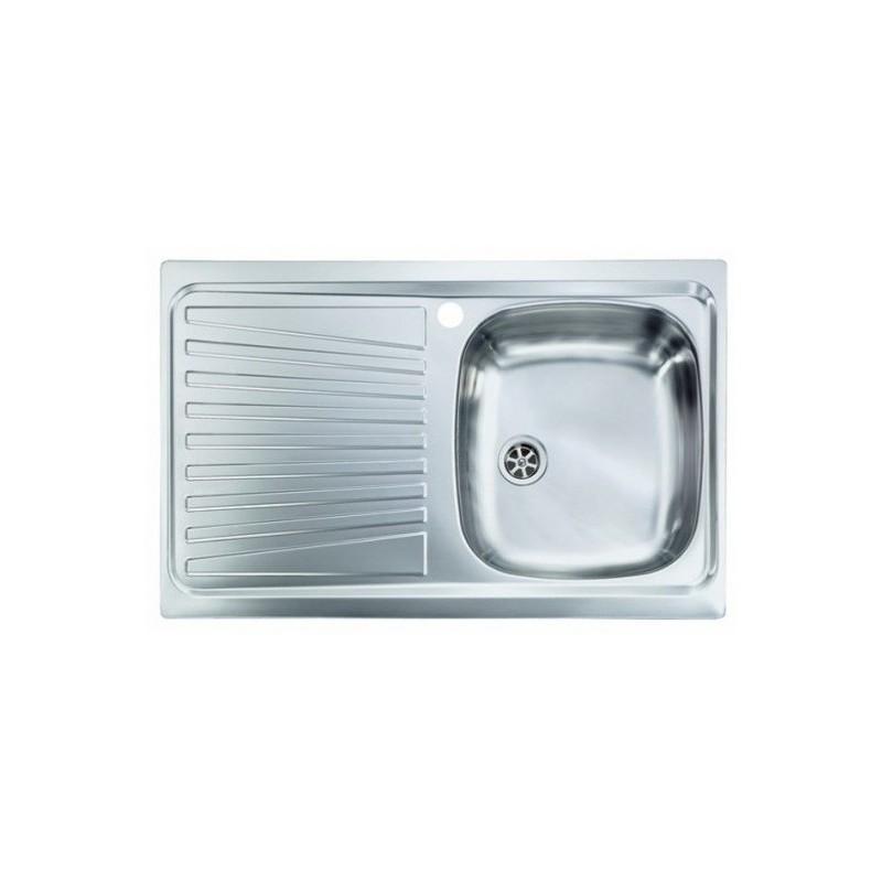 Lavello Cucina a vasca singola 86x50 cm in acciaio inox con gocciolatoio  sinistra - Vendita Online ItaliaBoxDoccia