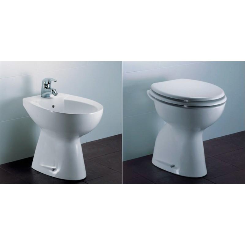 Vaso con coprivaso bidet tenax vendita online - Sanitari bagno tradizionali ...