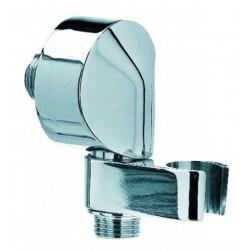 Presa acqua a muro con supporto per doccetta ad attacco conico girevole in ottone cromato Bossini