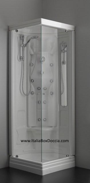 Cabina doccia idromassaggio 75x75   vendita online italiaboxdoccia