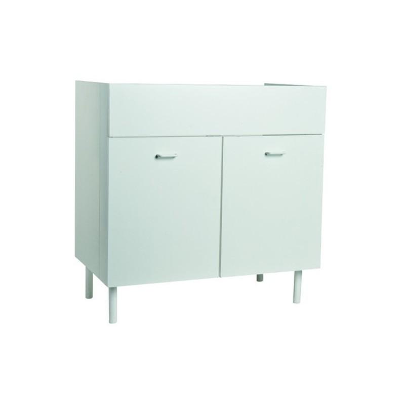 Mobile cucina sottolavello bianco 90x50 cm a 2 ante per lavelli in acciaio  inox - Vendita Online ItaliaBoxDoccia