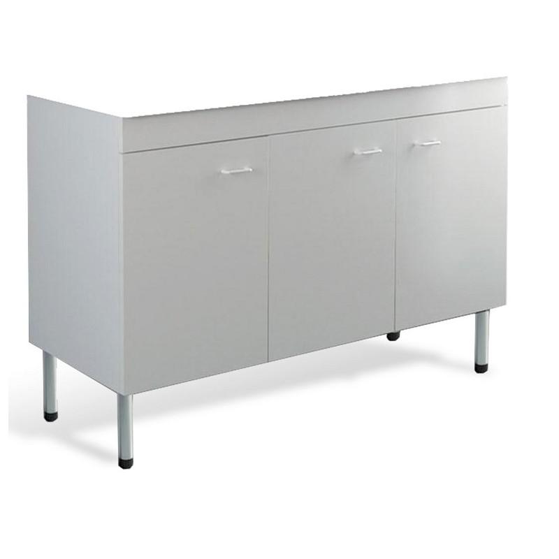 Mobile cucina sottolavello bianco 120x50 cm a 3 ante per lavelli in  ceramica - Vendita Online ItaliaBoxDoccia