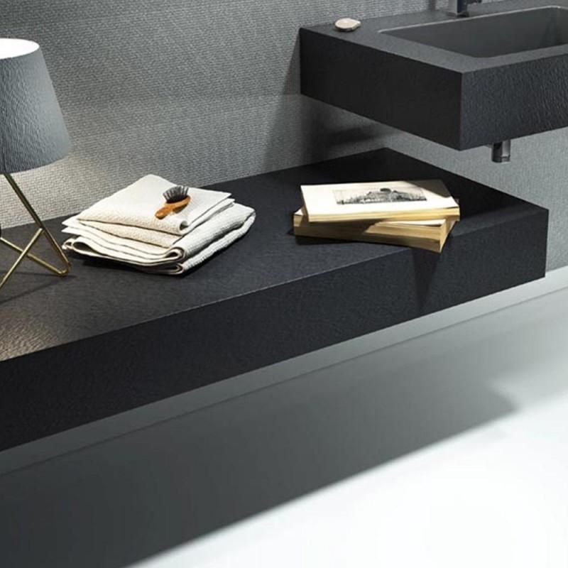 Mensola per lavabo da appoggio effetto Ardesia 120 x 50 cm realizzata in  marmo resina modello BIG - Vendita Online ItaliaBoxDoccia