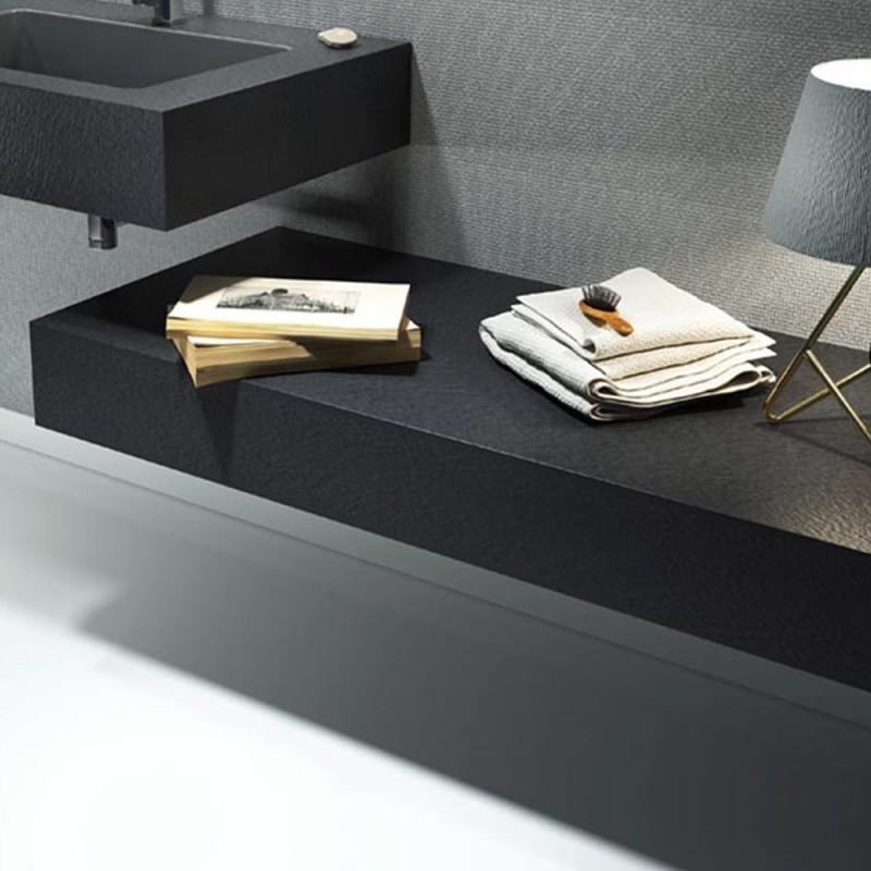 Mensola per lavabo da appoggio effetto Ardesia 160 x 50 cm realizzata in  pietra sintetica modello BIG - Vendita Online ItaliaBoxDoccia