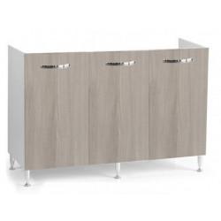 Mobile cucina sottolavello olmo 120x50 cm a 3 ante per lavelli in acciaio inox