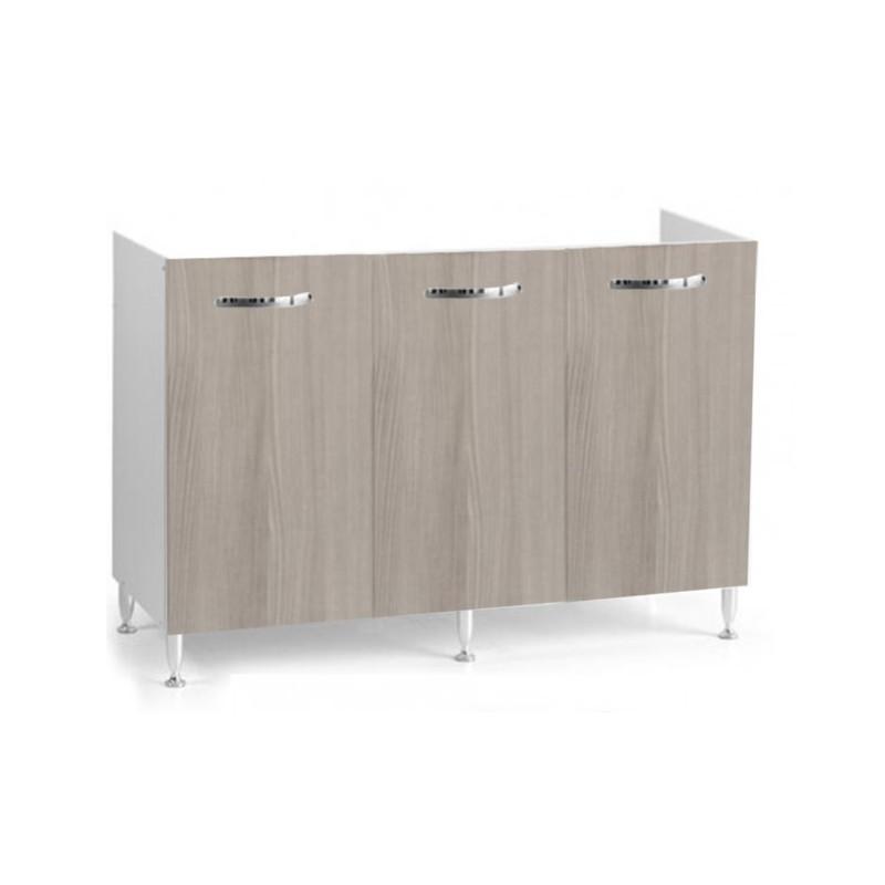 Mobile cucina sottolavello olmo 120x50 cm a 3 ante per lavelli in acciaio  inox - Vendita Online ItaliaBoxDoccia
