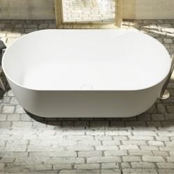 Vasca da bagno freestanding in luxolid 150x80 h54 a libera installazione