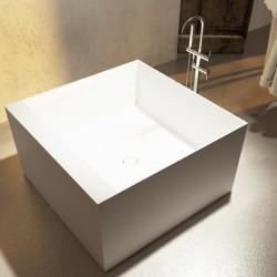 Vasca da bagno freestanding in luxolid 120x120 h64 a libera installazione