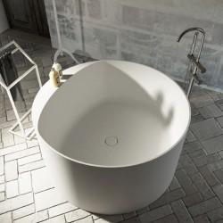Vasca da bagno freestanding in luxolid Circular Diametro 120 cm a libera installazione