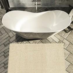Vasca da bagno freestanding in luxolid 160x71 h64 a libera installazione
