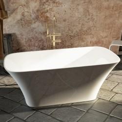 Vasca da bagno freestanding in luxolid 159x70 h64 a libera installazione