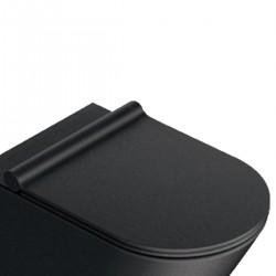 Sedile Wc Nero Satinato soft-close plus in resina inalterabile Catalano cod. 5SCSTPNS