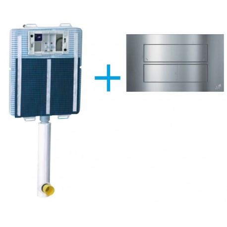 Cassetta di scarico da incasso Idea Blu con igienizzatore + Placca Cromo Lucida Its todini