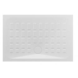 Piatto Doccia Cube Azzurra 80x120 H 4 cm con Piletta di Scarico diam. 90 mm