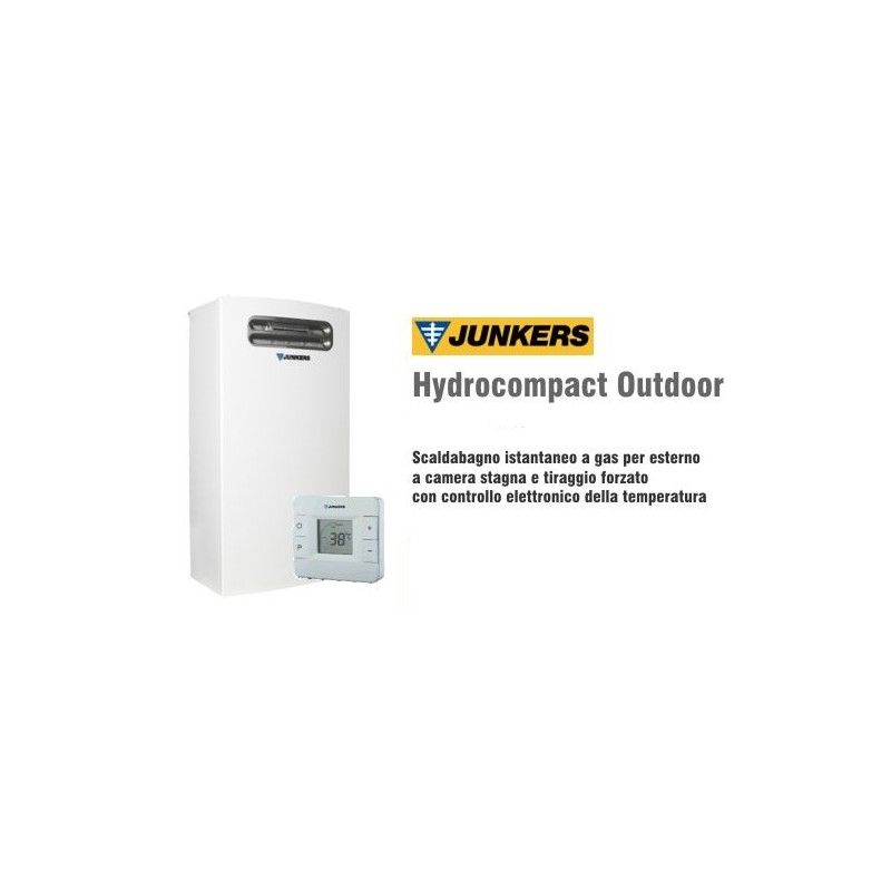 Scaldabagno a gas junkers hydrocompact outdoor 18 lt wtd - Scaldabagno a gas metano ...