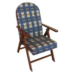 POLTRONA legno Campania Blu sedia