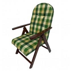 POLTRONA legno Campania Verde sedia