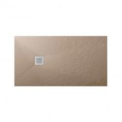 Su Misura da 80 H 2,5 cm Piatto Doccia Sabbia in Pietra Sintetica con Superficie Effetto Ardesia