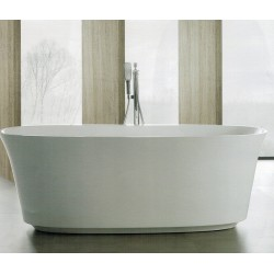 Vasca da bagno freestanding in acrilico 170x80 h58 ovale