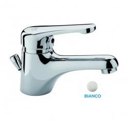 Miscelatore lavabo in ottone bianco Paffoni Serie Pegaso
