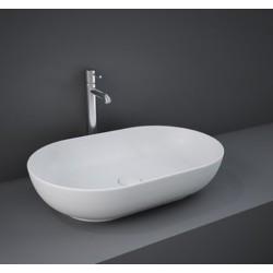 Lavabo ovale FEELING 55 x 35 cm Rak Ceramics bianco opaco profilo slim