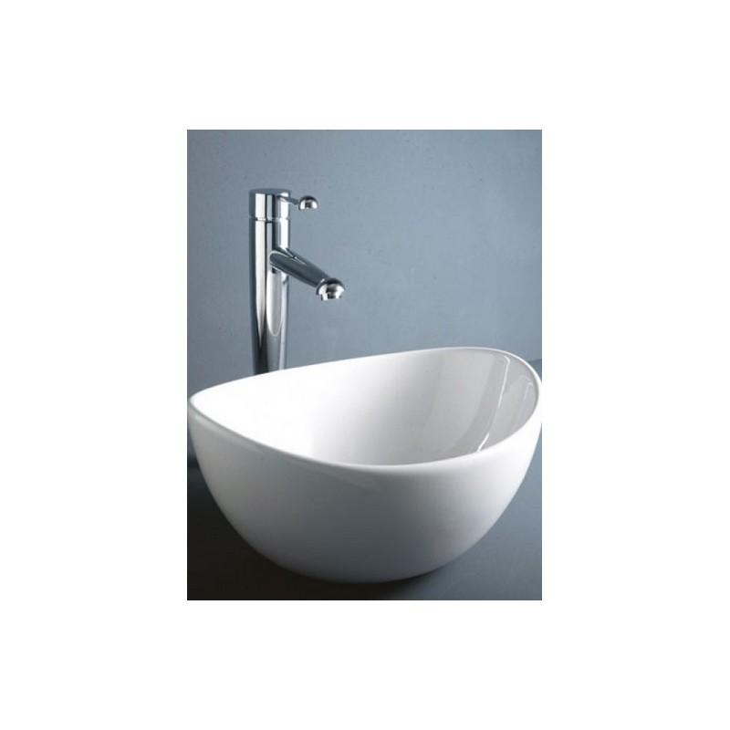 Lavabo bacinella da appoggio reema rak per installazione for Lavabo da appoggio