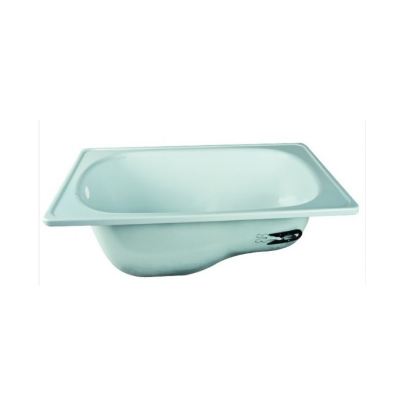 Vasca Con Sedile 105x65 Cm Da Incasso In Acciaio Smaltato Bianco Vendita Online Italiaboxdoccia