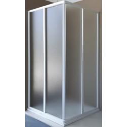 Box Doccia ad apertura scorrevole Cristallo 3 mm Satinato profili bianchi