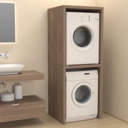 Mobile a Colonna per coprilavatrice / asciugatrice in abete effetto legno