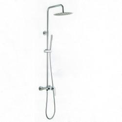 Colonna doccia Tonda con miscelatore e tre uscite soffione doccetta e bocca di erogazione