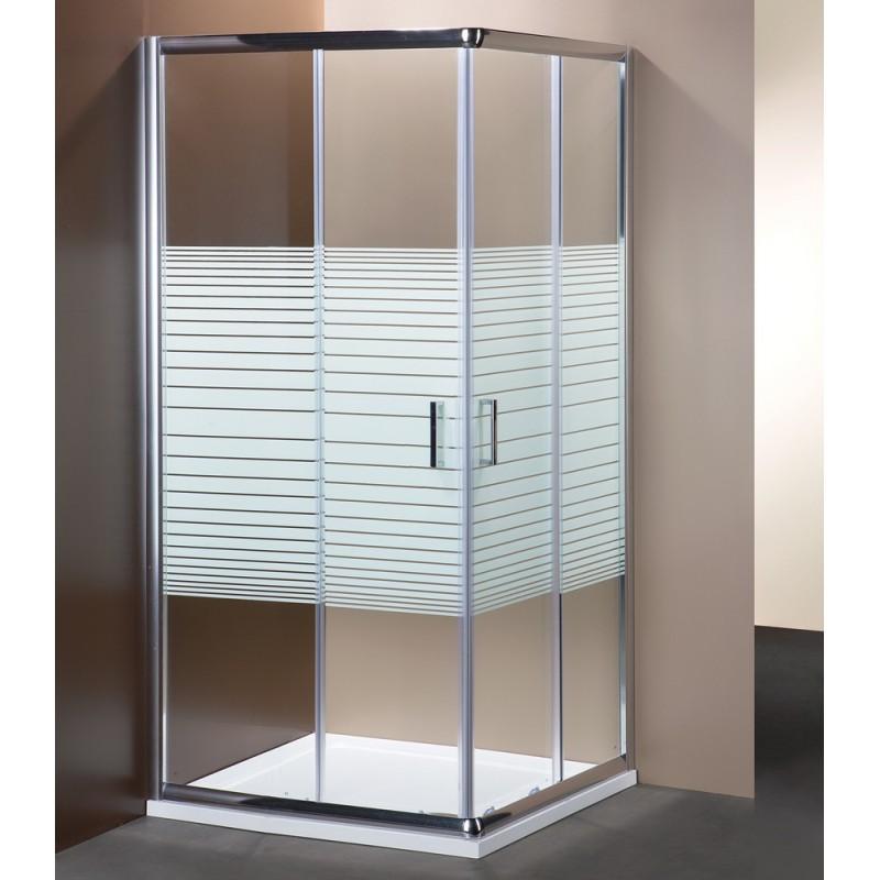Box doccia rettangolare serigrafato vendita online for Doccia rettangolare