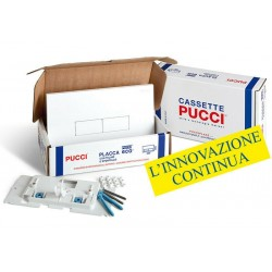 Kit completo Placca Telaio/Sportello Pucci Bianca Modello Eco Linea