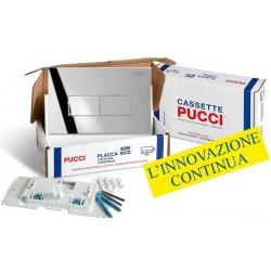 Kit completo Pucci Placca Linea Cromata Telaio/Sportello per sostituzione placche eco già installate