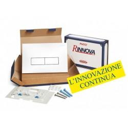 Kit completo rinnova Pucci Placca Linea Bianca Telaio/Sportello per sostituzione placche eco già installate