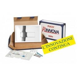 Kit completo rinnova Pucci Placca Linea Cromata Telaio/Sportello per sostituzione placche sara già installate