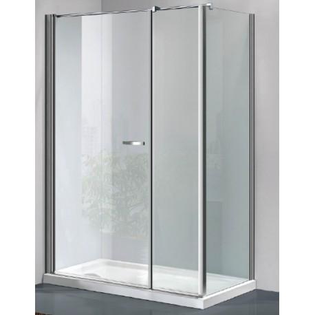 Box doccia a porta battente con parete fissa cristallo 6 mm con trattamento anticalcare art - Box doccia globo ...