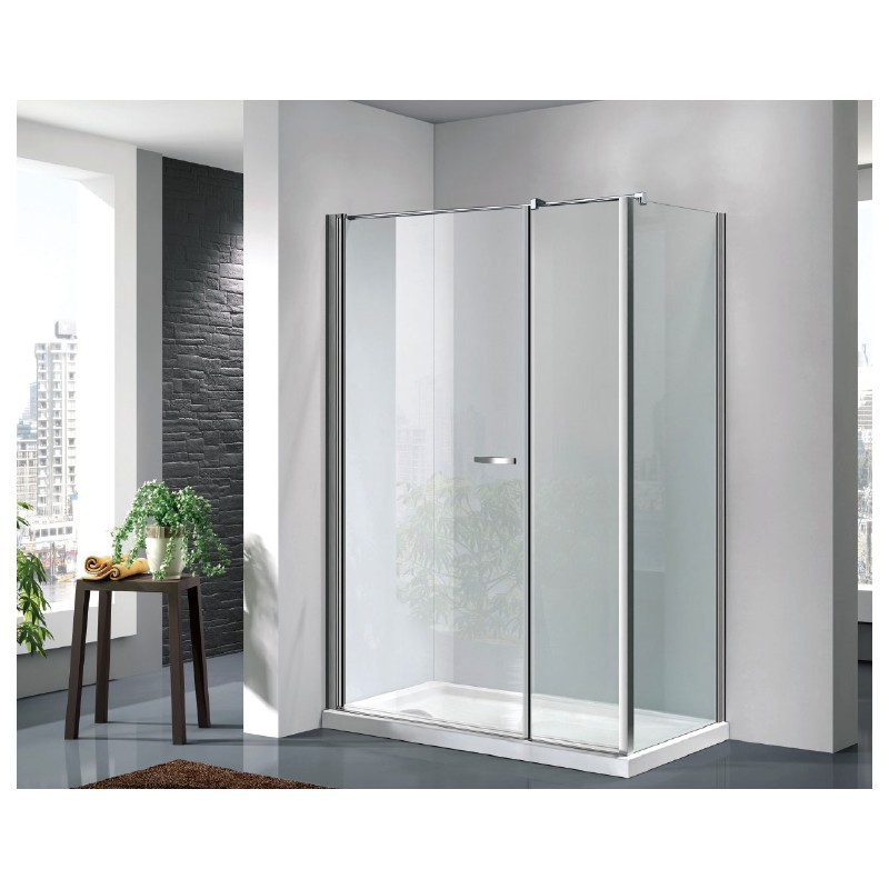 Box doccia a porta battente con parete fissa - Box doccia porta battente ...