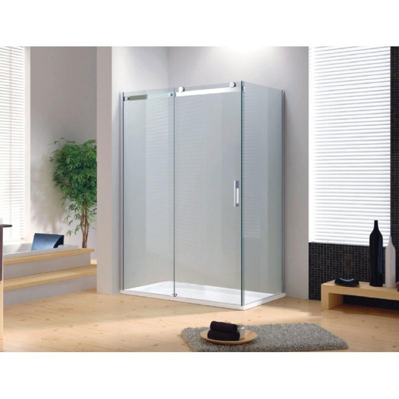Box doccia con porta scorrevole cristallo 8 mm - Porta in cristallo scorrevole ...