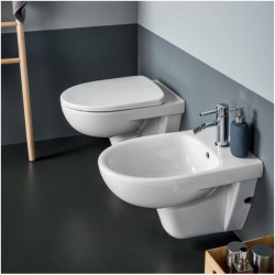 Sanitari Sospesi Pozzi Ginori Selnova 3 Pro in ceramica wc con scarico a parete + bidet e copriwc