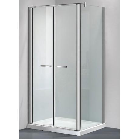 Box doccia con porta saloon cristallo trasparente opaco - Tipi di doccia ...