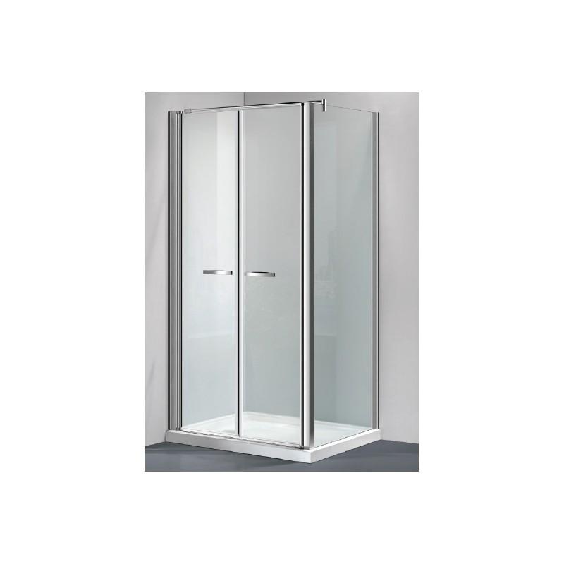Box doccia con porta saloon cristallo trasparente opaco - Porta per doccia ...
