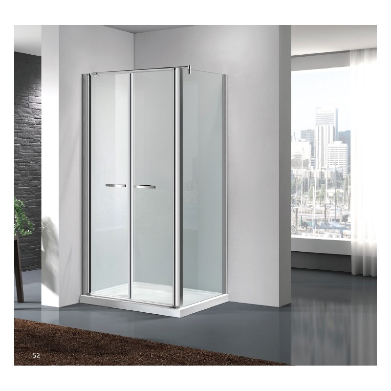 Box doccia con porta saloon cristallo trasparente - Porta doccia saloon ...
