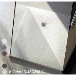Su Misura da 70 cm H 2,5 Piatto Doccia in Pietra Sintetica Ardesia (Mineral Marmo - Marmo Resina)