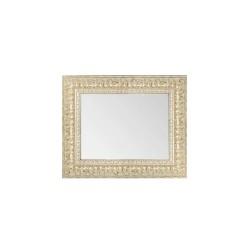 Su Misura Specchiera in argento anticato con cornice effetto intaglio