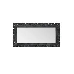Su Misura Specchiera stile barocco in nero lucido con cornice traforata
