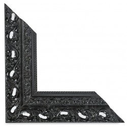 Su Misura Cornice traforata in nero lucido stile barocco