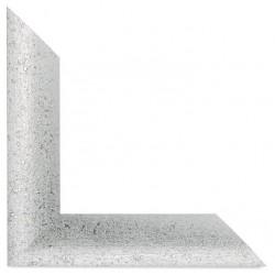 Su Misura Cornice Moderna in argento brillantinato